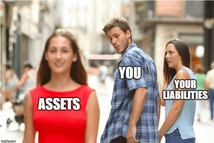 net worth assets vs liabilites